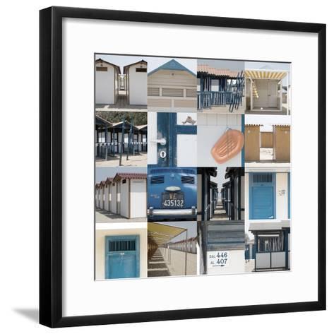 Multiple Views of Venice, Italy Beachlife-Mike Burton-Framed Art Print