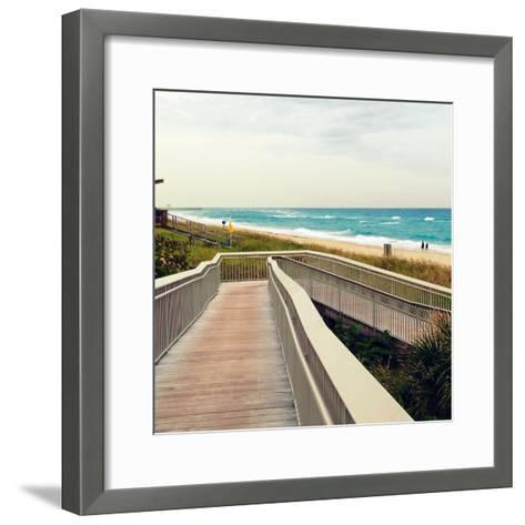 Ocean Front Park-Lisa Hill Saghini-Framed Art Print
