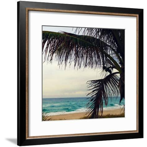 Palm and Beach-Lisa Hill Saghini-Framed Art Print