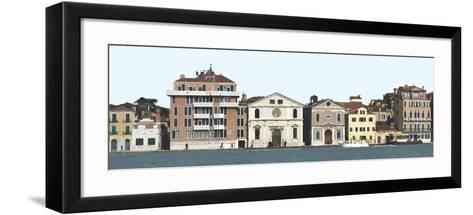 Panoramic View of Venice. Dorsoduro-Mike Burton-Framed Art Print