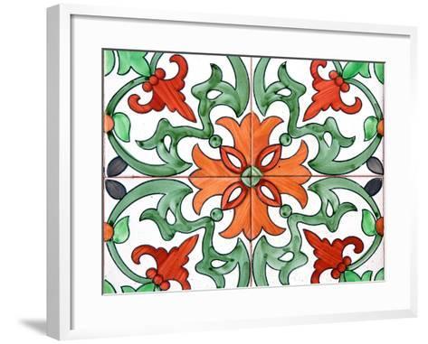 Spanish Tiles I-Jairo Rodriguez-Framed Art Print
