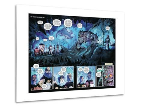 Zombies vs. Robots: Volume 1 - Page Spread with Panels-Anthony Diecidue-Metal Print