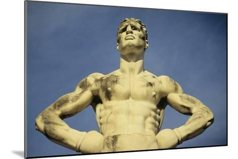 Mussolini Sports Stadium, Rome - Olympic Games 1933 - Statues - Fascist Architecture-Robert ODea-Mounted Photographic Print
