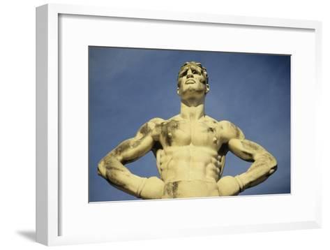 Mussolini Sports Stadium, Rome - Olympic Games 1933 - Statues - Fascist Architecture-Robert ODea-Framed Art Print