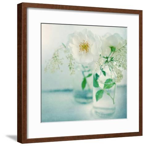 White Peonies-Sarah Gardner-Framed Art Print