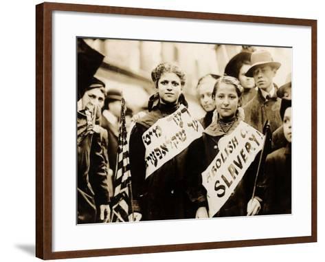 Protest against Child Labor, New York, 1909--Framed Art Print