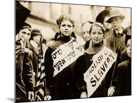 Protest against Child Labor, New York, 1909--Mounted Photo