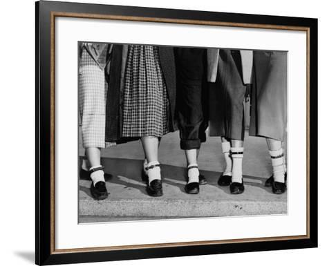 Legs and Feet with Dog Collar Anklets-Roger Higgins-Framed Art Print