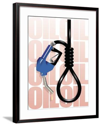 Gas Pump Nozzle and Hose Tied in Noose--Framed Art Print