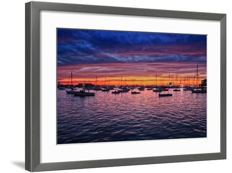 Colorful Sunset Newport Rhode Island--Framed Art Print