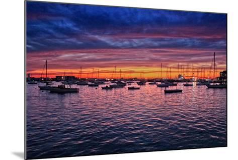Colorful Sunset Newport Rhode Island--Mounted Photo