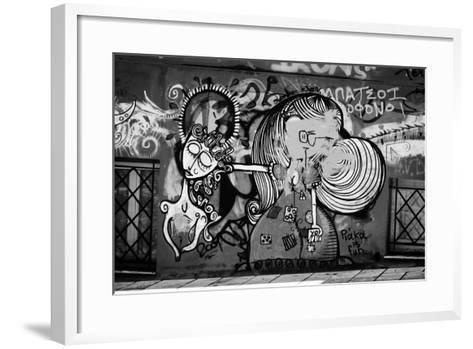 Graffiti in Athens Greece--Framed Art Print