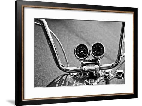 Harley Davidson Handlebars--Framed Art Print