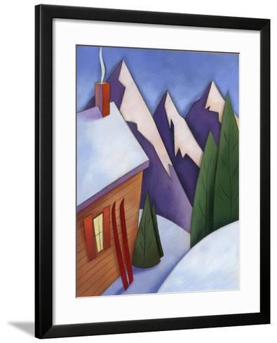 Winter Snow around Ski Lodge--Framed Art Print