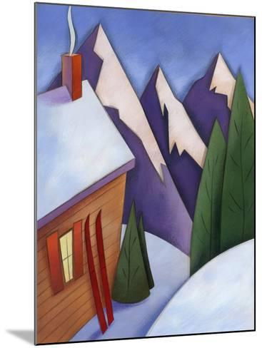 Winter Snow around Ski Lodge--Mounted Photo