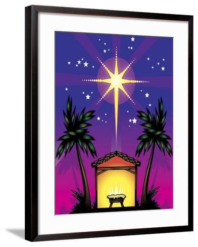 Night Stars over Birthplace of Jesus Christ--Framed Art Print
