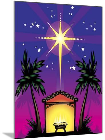Night Stars over Birthplace of Jesus Christ--Mounted Photo