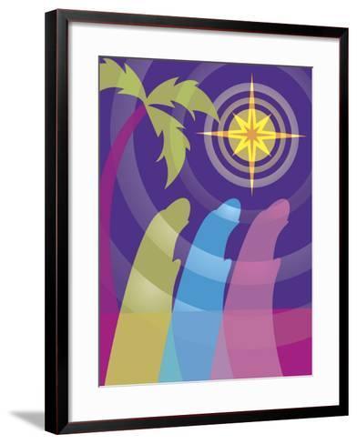 Silhouettes of the Three Wisemen--Framed Art Print