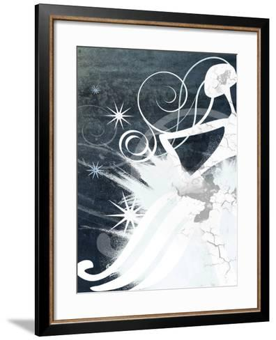 Abstract Pattern of Ice and Snow--Framed Art Print