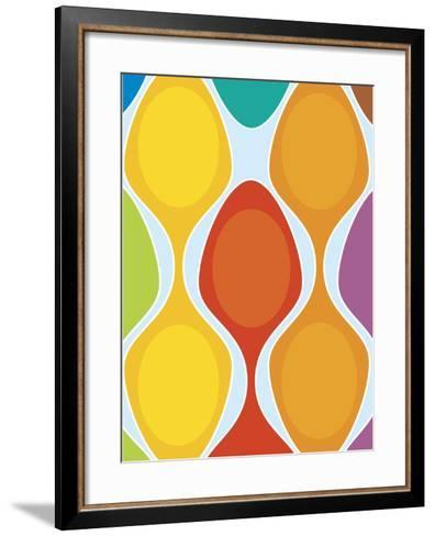 Colorful Retro Pattern--Framed Art Print