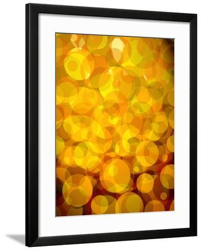 Retro Abstract Pattern of Bubbles--Framed Art Print