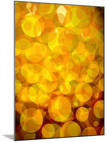 Retro Abstract Pattern of Bubbles--Mounted Photo