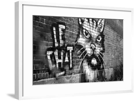 Le Chat Graffiti--Framed Art Print