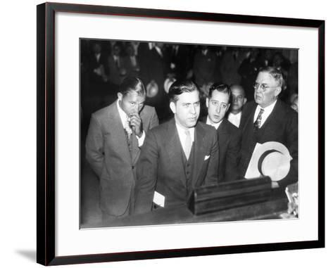 Gangster Jack Mcgurn, Was Arrested While Playing Golf in the Western Open in Chicago--Framed Art Print
