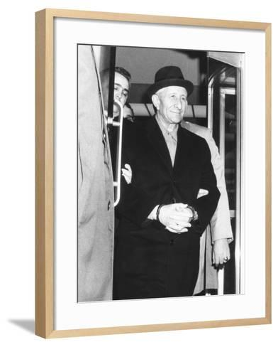 Handcuffed Carlo Gambino Is Led from Fbi Headquarters on March 23, 1970--Framed Art Print