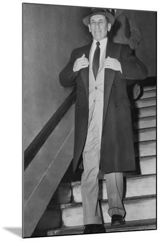 Gangster Meyer Lansky Leaving Manhattan Arrest Court on Feb--Mounted Photo