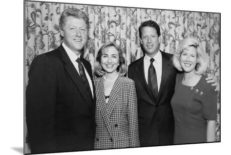 1992 Democratic Nominees for President and Vice President with their Wives--Mounted Photo