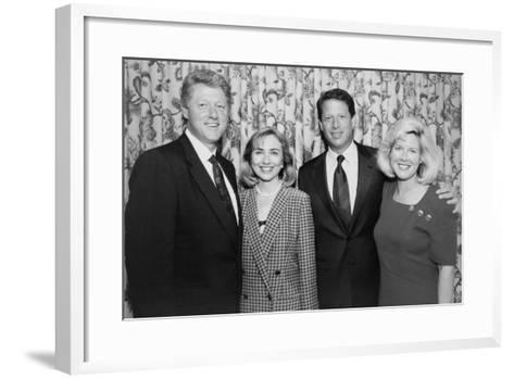 1992 Democratic Nominees for President and Vice President with their Wives--Framed Art Print
