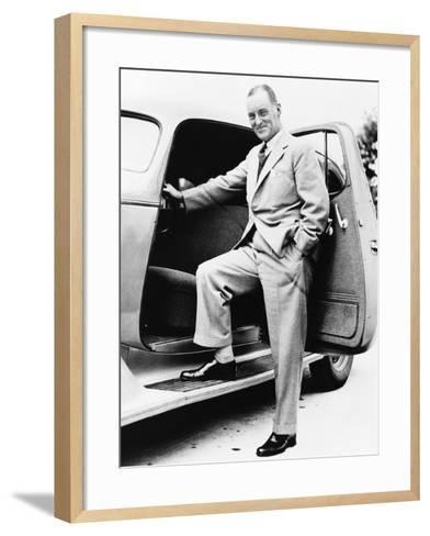 Sir Malcolm Campbell--Framed Art Print