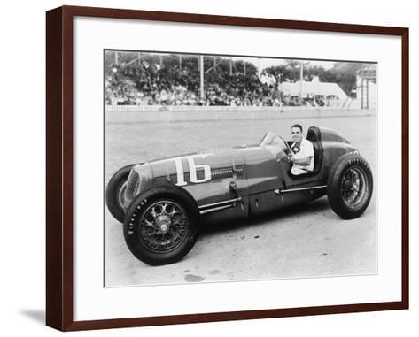George Robson Was the Winner of the 1946 Indianapolis 500--Framed Art Print