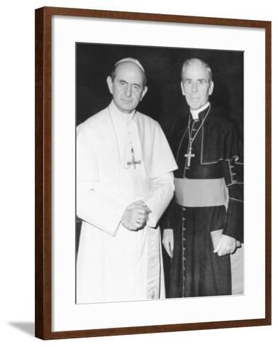 Fulton J. Sheen Following a Private Audience Pope Paul VI at the Vatican, March 17, 1971--Framed Art Print