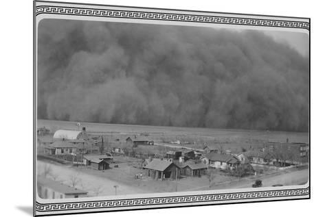Dust Storm in Rolla, Kansas--Mounted Photo