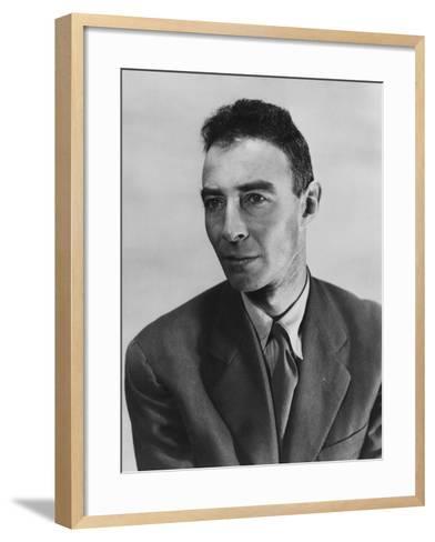 Robert Oppenheimer, Atomic Physicist and Head the Manhattan Project's Secret Weapons Laboratory--Framed Art Print