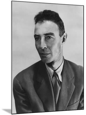 Robert Oppenheimer, Atomic Physicist and Head the Manhattan Project's Secret Weapons Laboratory--Mounted Photo
