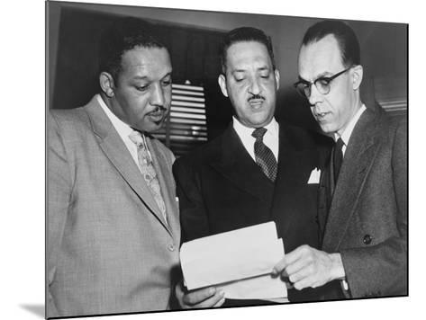 Lawyers Confer at the Supreme Court Prior to Presenting Arguments Against School Segregation--Mounted Photo