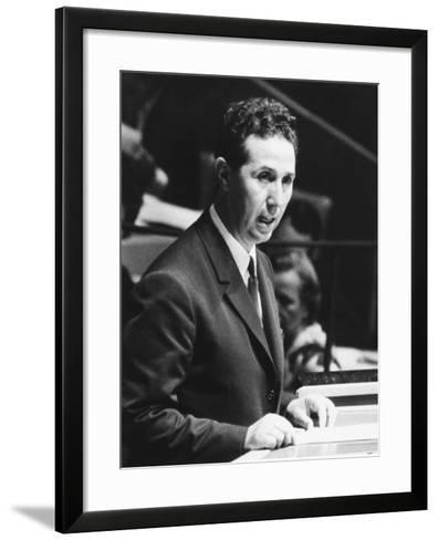 Algerian President Ahmed Ben Bella Addresses the United Nations General Assembly on Oct. 9, 1962--Framed Art Print