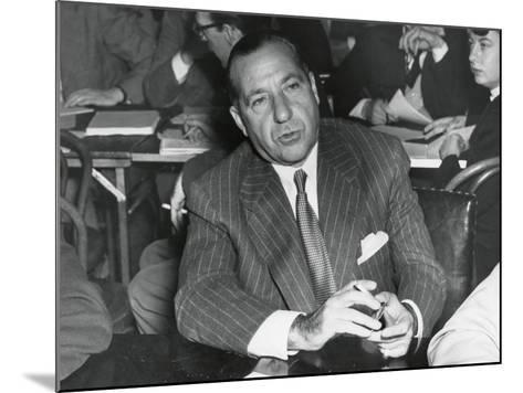 Frank Costello Testifying before a Senate Interstate and Foreign Commerce Subcommittee--Mounted Photo