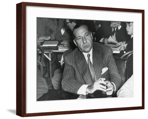 Frank Costello Testifying before a Senate Interstate and Foreign Commerce Subcommittee--Framed Art Print