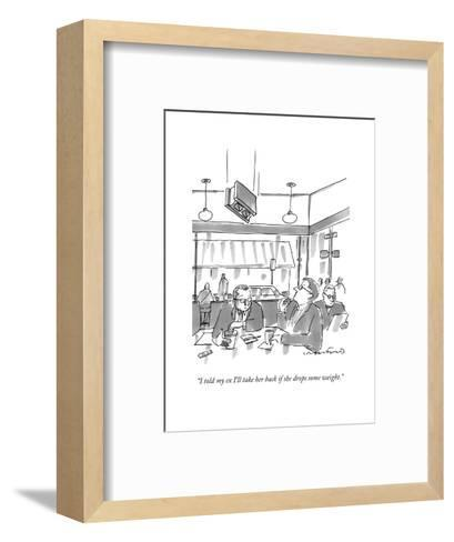 """""""I told my ex I'll take her back if she drops some weight."""" - New Yorker Cartoon-Michael Crawford-Framed Art Print"""