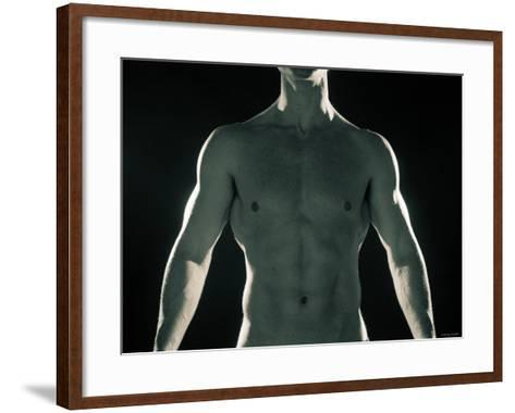 Man with Muscular Arms and Chest--Framed Art Print