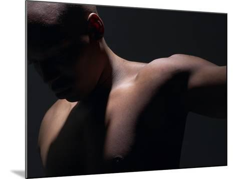 Male Nude in Shadows--Mounted Photographic Print
