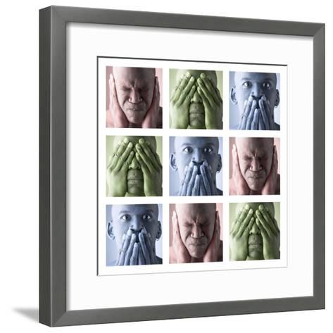 Hear No Evil, See No Evil, Speak No Evil--Framed Art Print