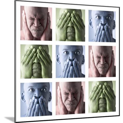 Hear No Evil, See No Evil, Speak No Evil--Mounted Photographic Print