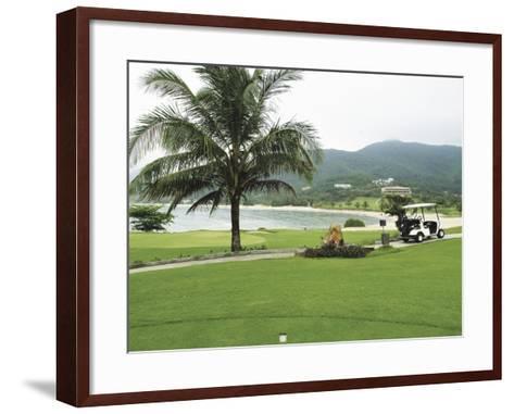 Lawn on a Golf Course--Framed Art Print