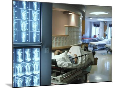 X-Ray Images on Computer Screen in Hospital--Mounted Photographic Print