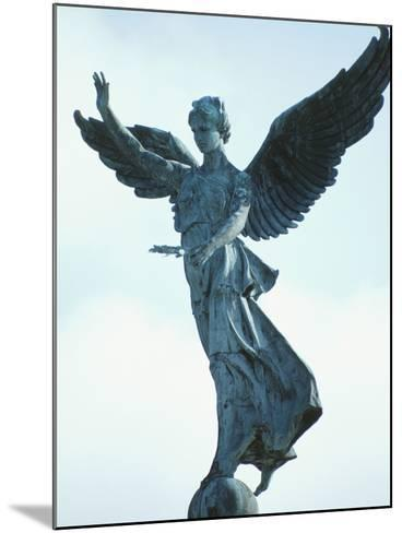 Angelic Statue - Montreal, Quebec, Canada--Mounted Photographic Print